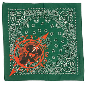 "Cypress Hill ""Skull & Compass"" Bandana in Green"