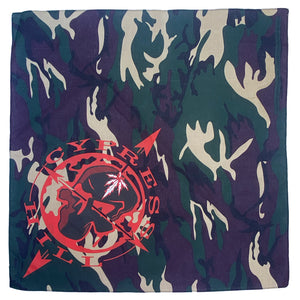 "Cypress Hill ""Skull & Compass"" Bandana in Green Camo"