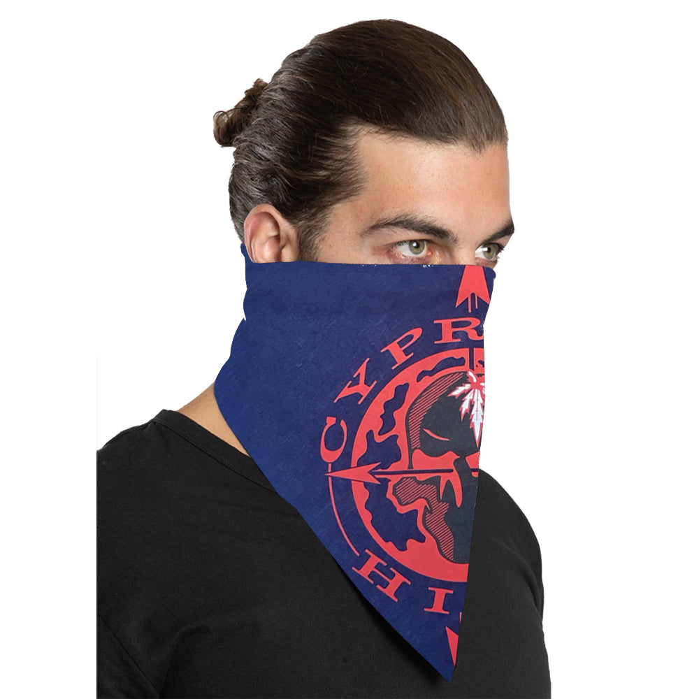 "Cypress Hill ""Skull & Compass"" Bandana in Navy"