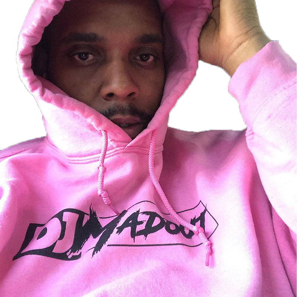 "DJ MADOUT ""Logo"" Pullover Hoodie In Pink"
