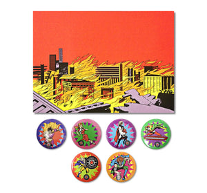 Down N' Outz Button Pack With Postcard