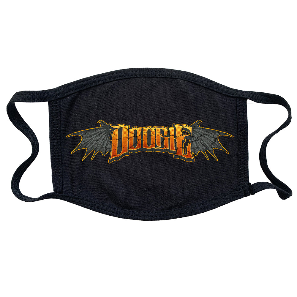 "Doobie ""Horns Logo"" Reusable and Washable Anti-Germ and Pollution Mask Cover in Black"