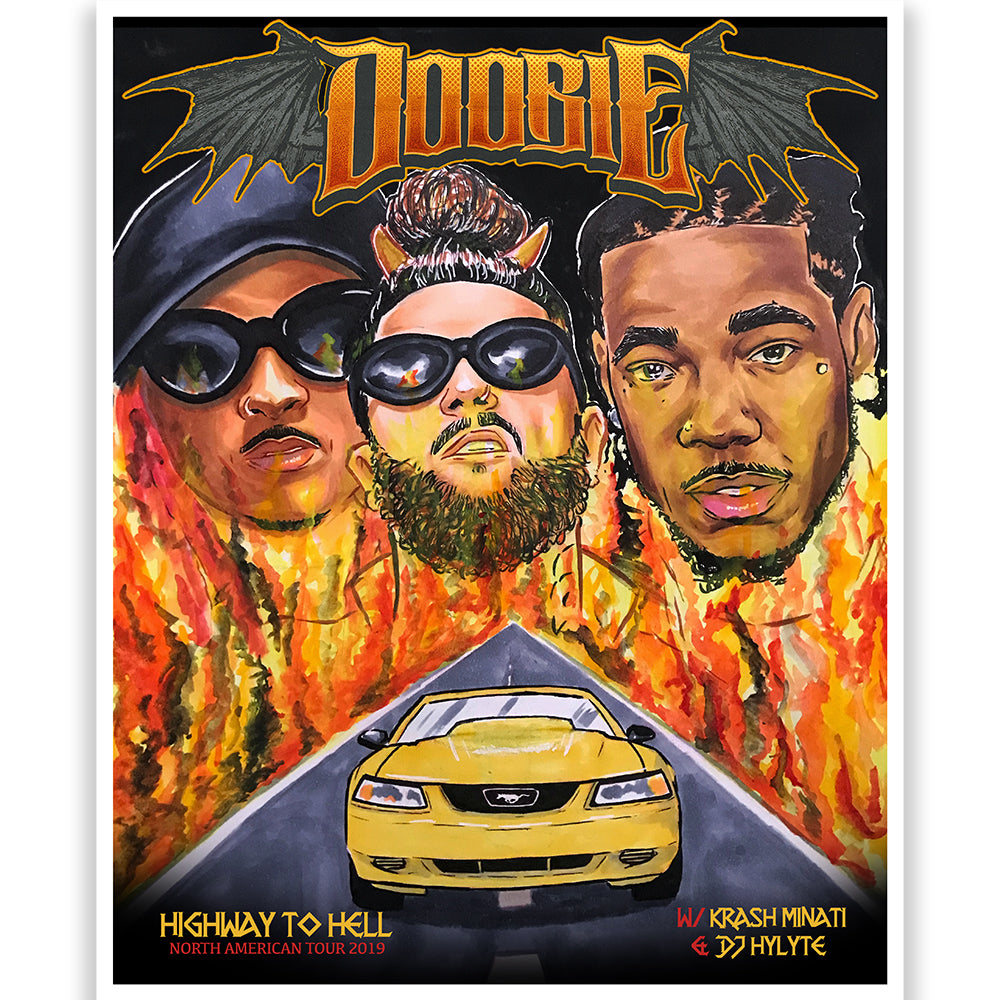 "Doobie ""Highway To Hell"" Tour Poster"