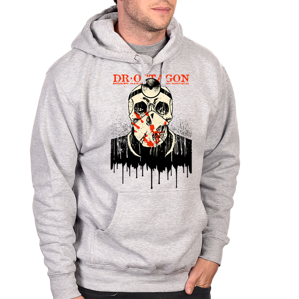 "Dr Octagon ""Drips"" Pullover Hoodie - Heather Grey"