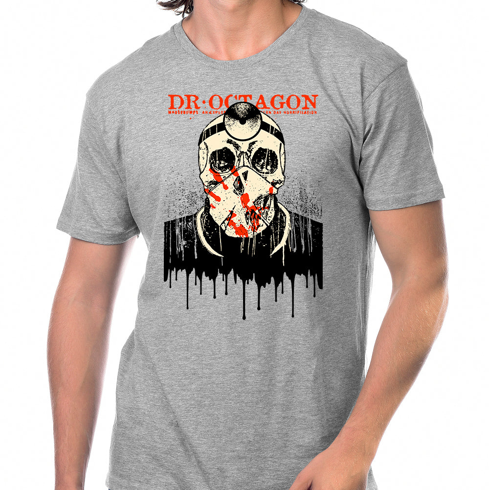 Dr Octagon Drips T-Shirt in Heather Grey