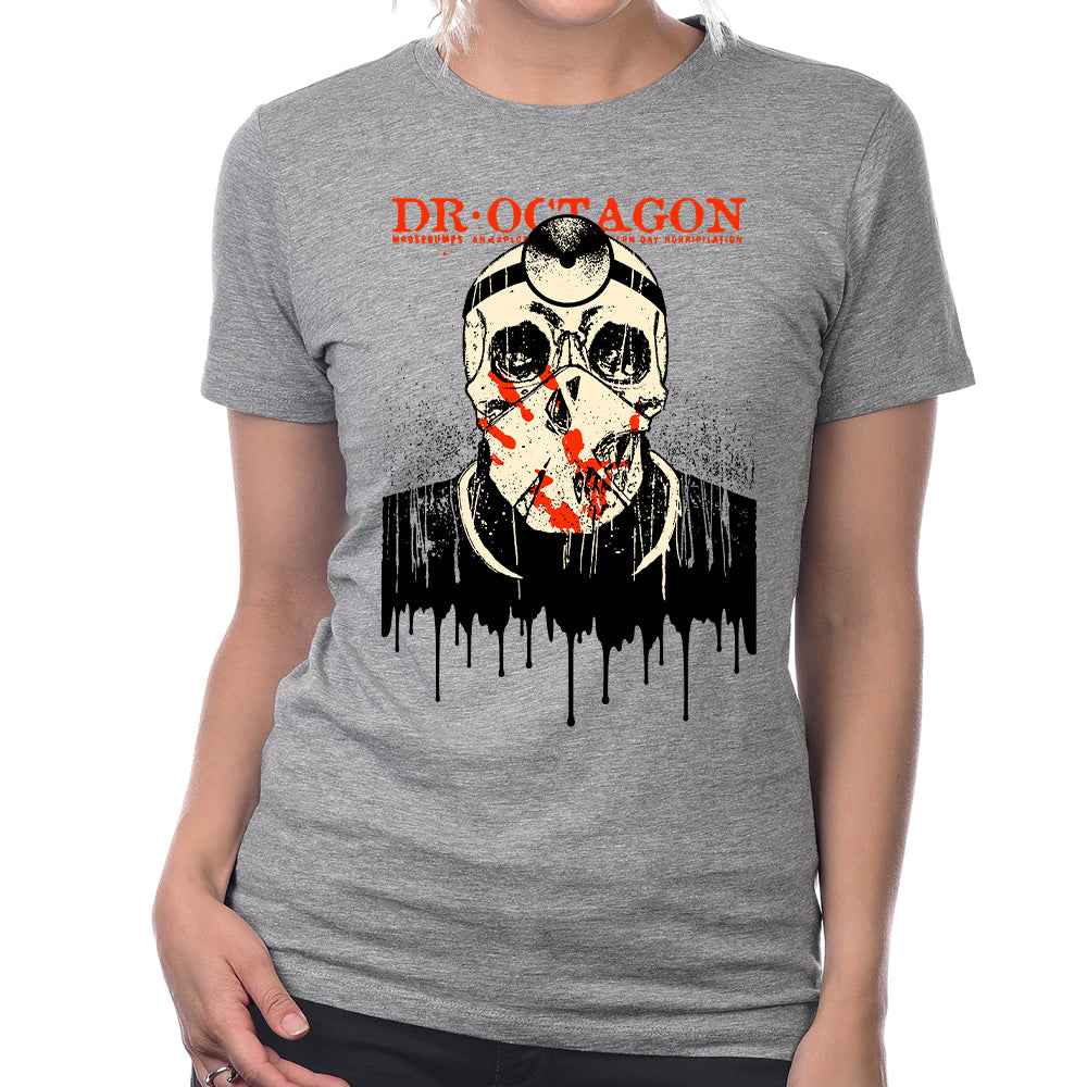 Dr Octagon Drips Women's T-Shirt in Heather Grey