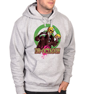 "Dr Octagon ""Skull"" Pullover Hoodie - Heather Grey"