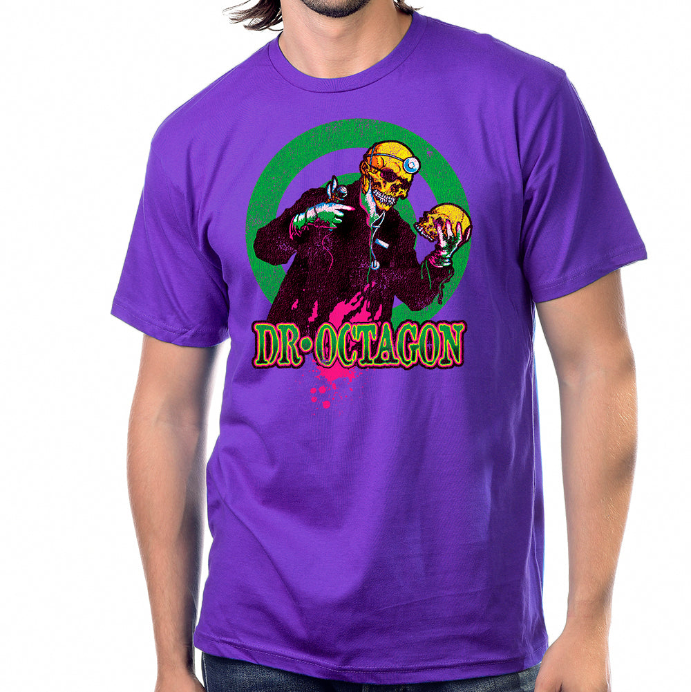 Dr Octagon With Skull T-Shirt in Purple