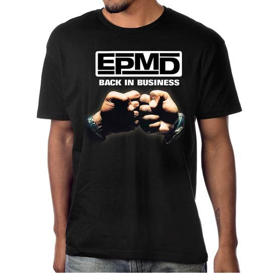"EPMD ""Back in Business"" Men's Black Album Cover Photo T-shirt"
