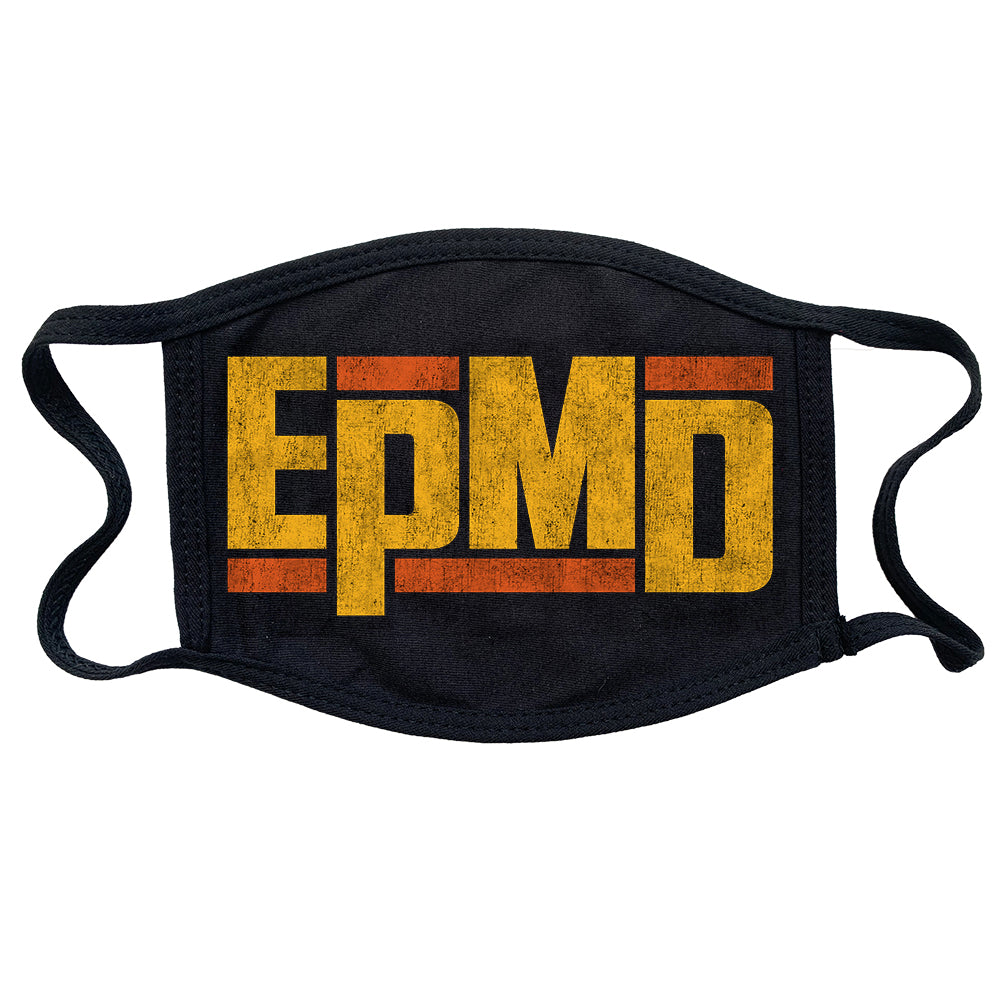 "EPMD ""Logo"" Reusable and Washable Anti-Germ and Pollution Mask Cover in Black"