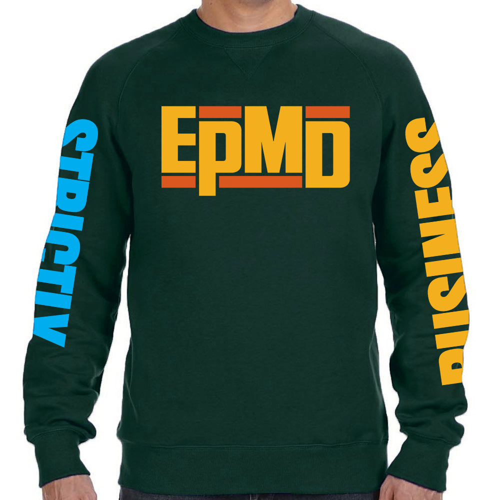 "EPMD ""Strictly Business"" Green Crew Neck Sweatshirt"