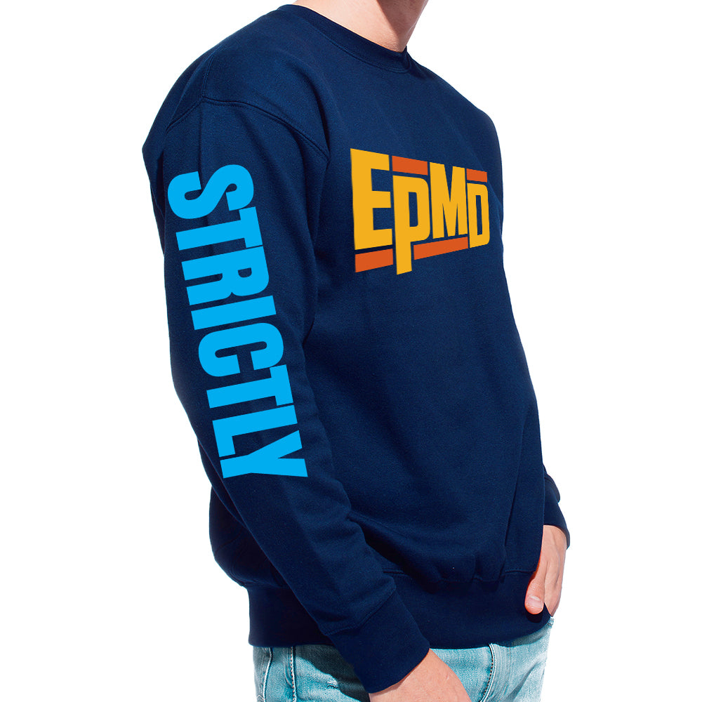 "EPMD ""Strictly Business"" Navy Crew Neck Sweatshirt"