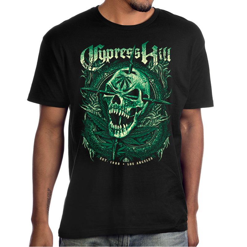 "Cypress Hill ""EST 1988 Green Skull"" Men's T-shirt"
