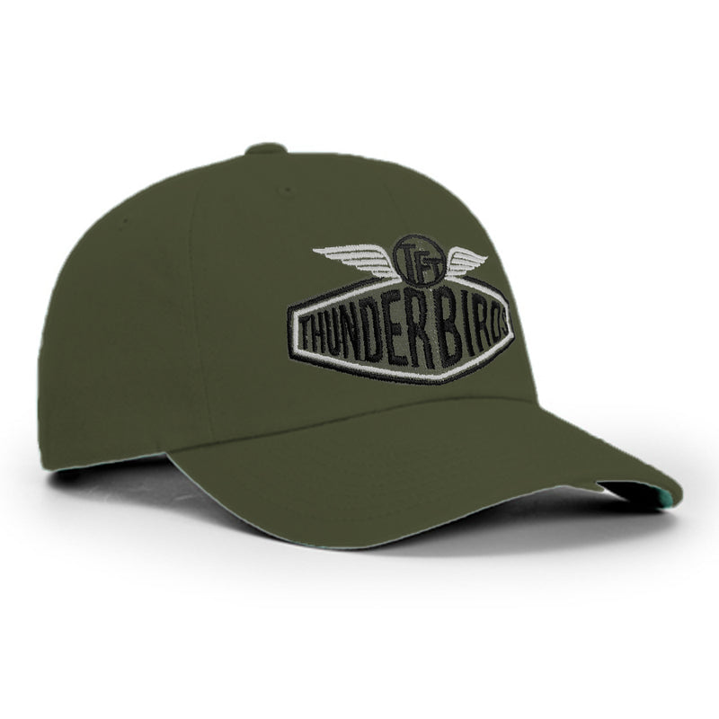 "The Fabulous Thunderbirds ""Car Logo"" Olive Baseball Hat"