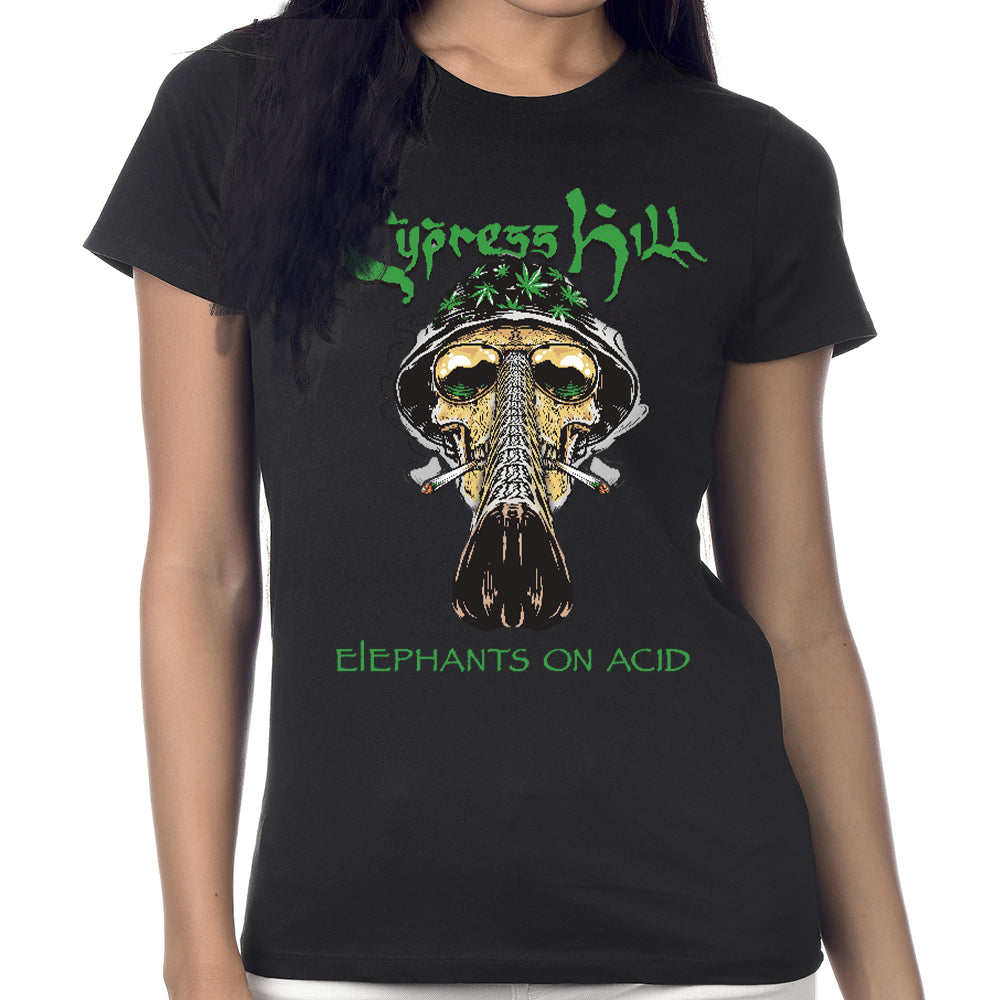 "Cypress Hill ""Fear and Loathing"" Women's Black Short Sleeve T-Shirt"
