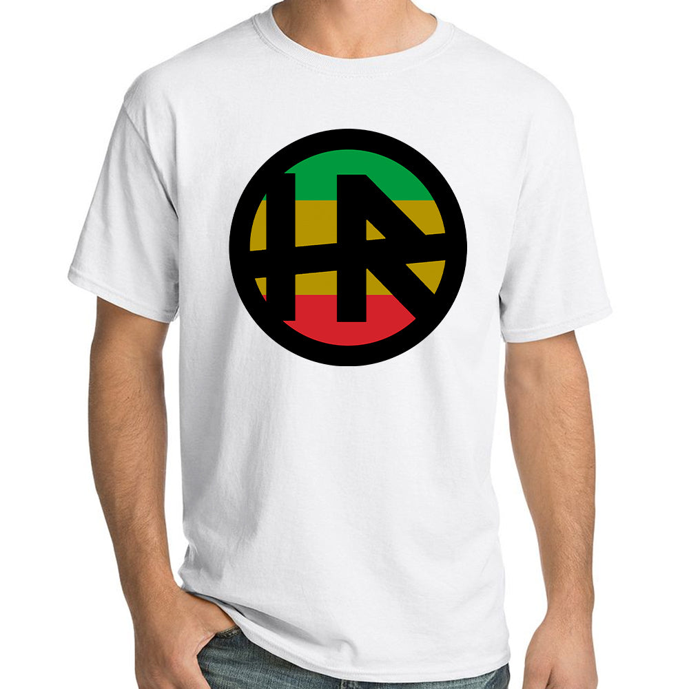 "H.R. ""Rasta Logo"" T-Shirt In White"