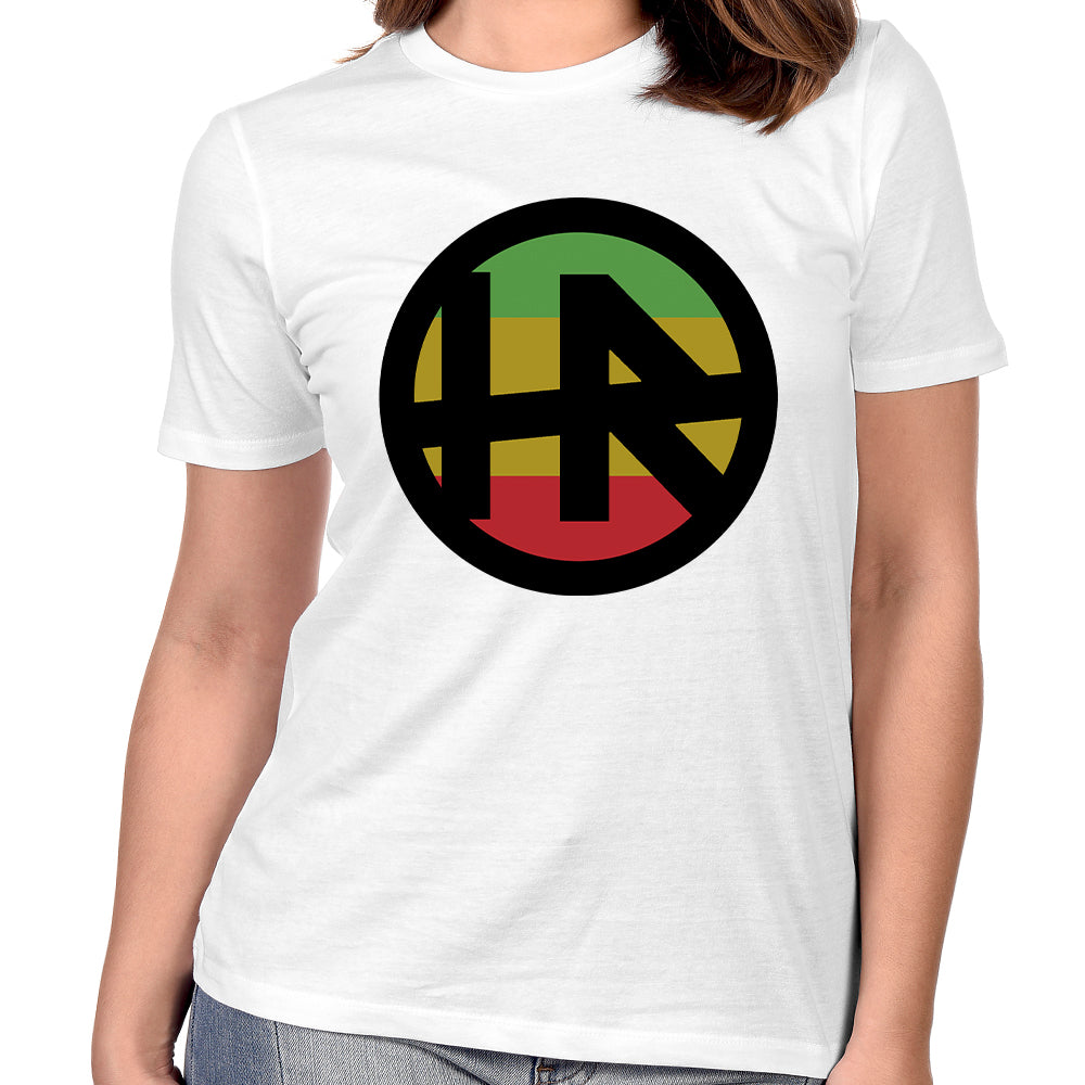 "H.R. ""Rasta Logo"" Women's T-Shirt In White"