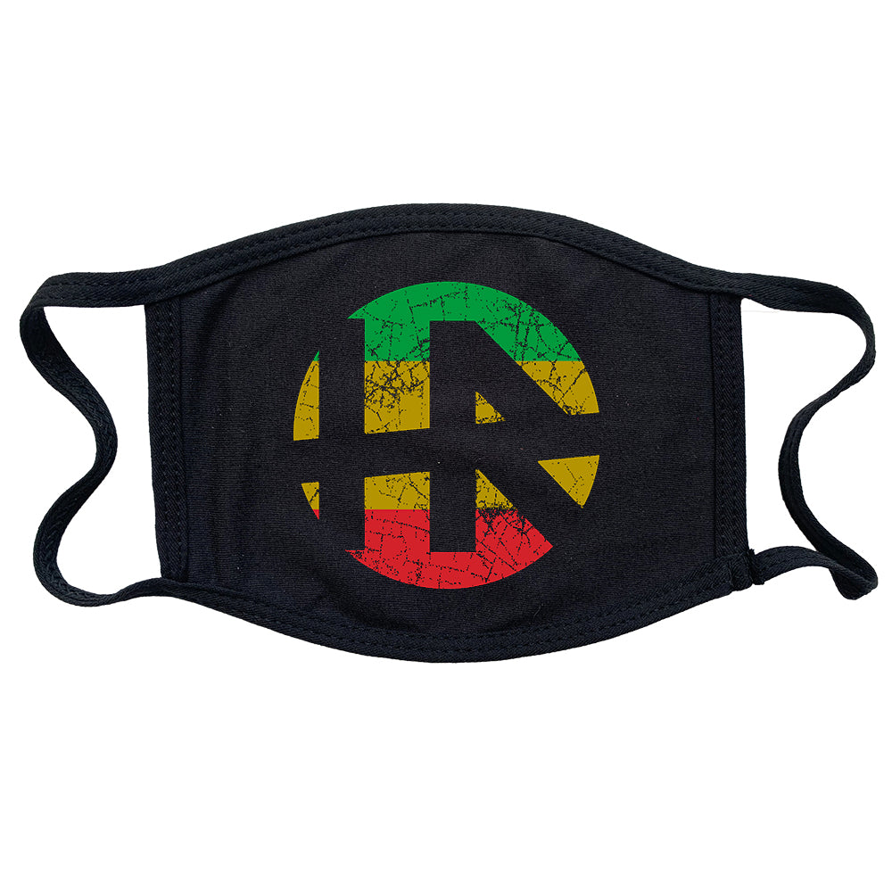 "H.R. ""Rasta Logo"" Reusable and Washable Anti-Germ and Pollution Mask Cover in Black"