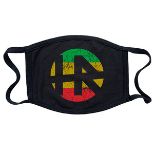 "H.R. ""Rasta Logo"" mask in Black"