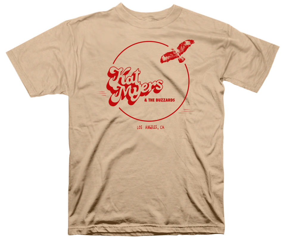 "Kat Myers & the Buzzards ""Logo"" T-Shirt in Tan"