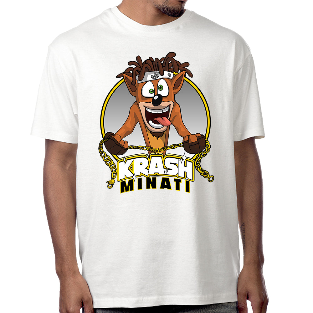 "Krash Minati ""Bandicoot"" T-Shirt in White"