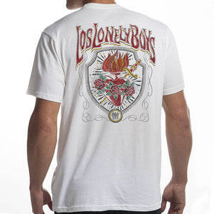 "Los Lonely Boys ""Revelation Heart"" T-Shirt in White"