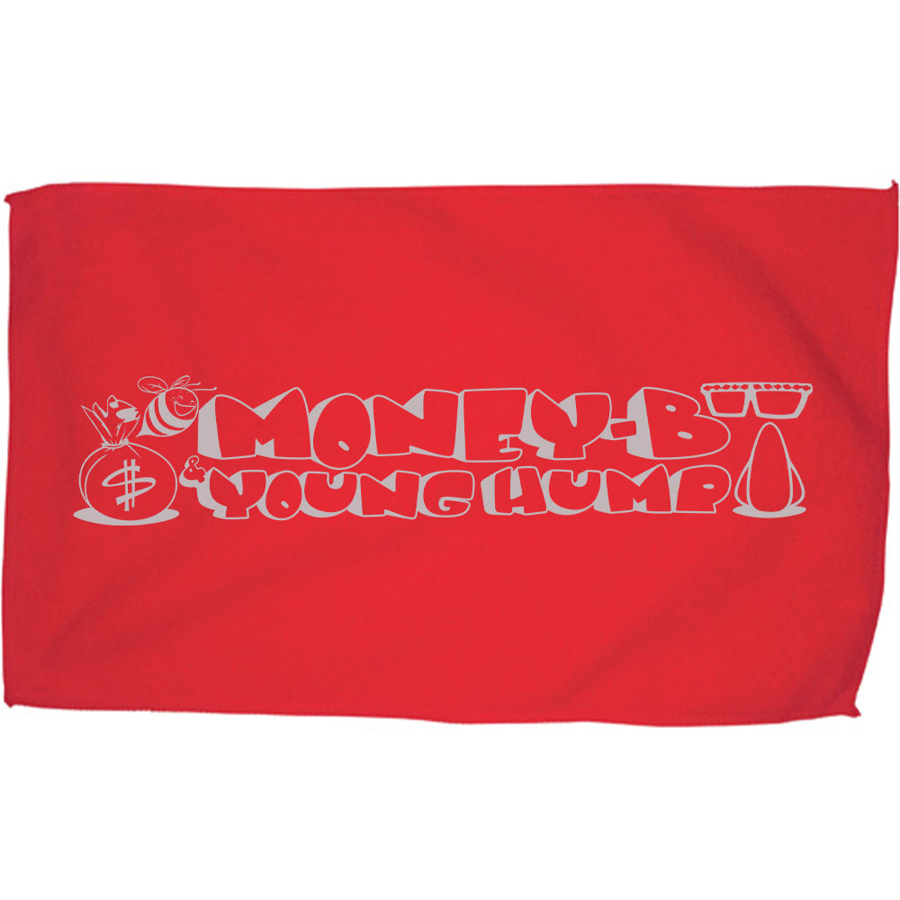 "Digital Underground ""Money-B & Young Hump"" Rally Towel in Red"