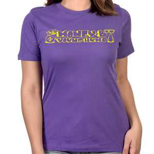 "Digital Underground ""Money-B & Young Hump"" Women's T-shirt in Purple"