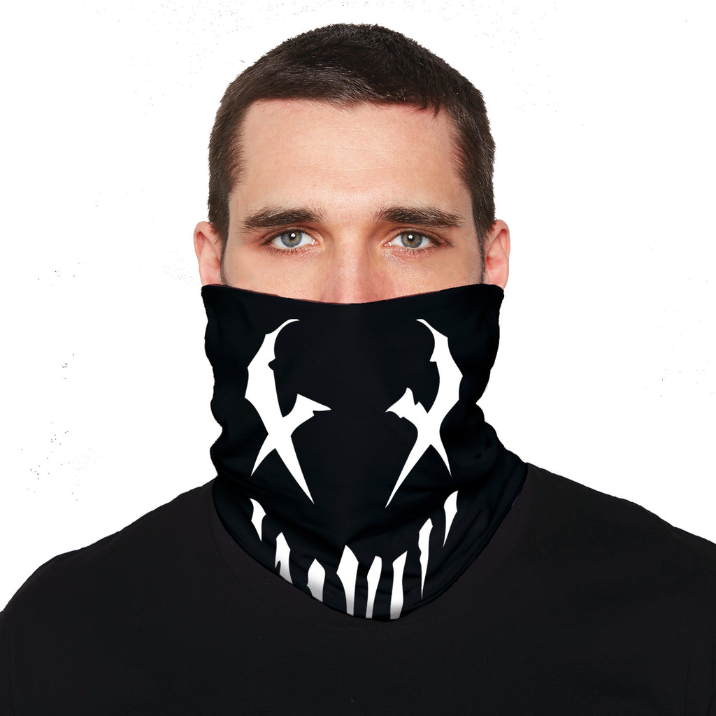 "Mushroomhead ""X Face"" neck gaiter in Black"