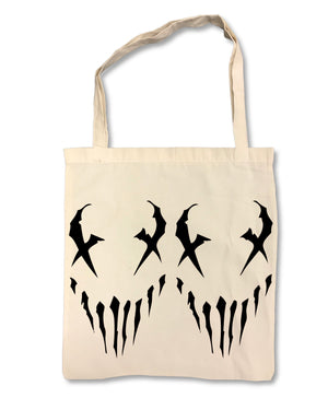 "MUSHROOMHEAD ""X Face"" on Tan Tote Bag"