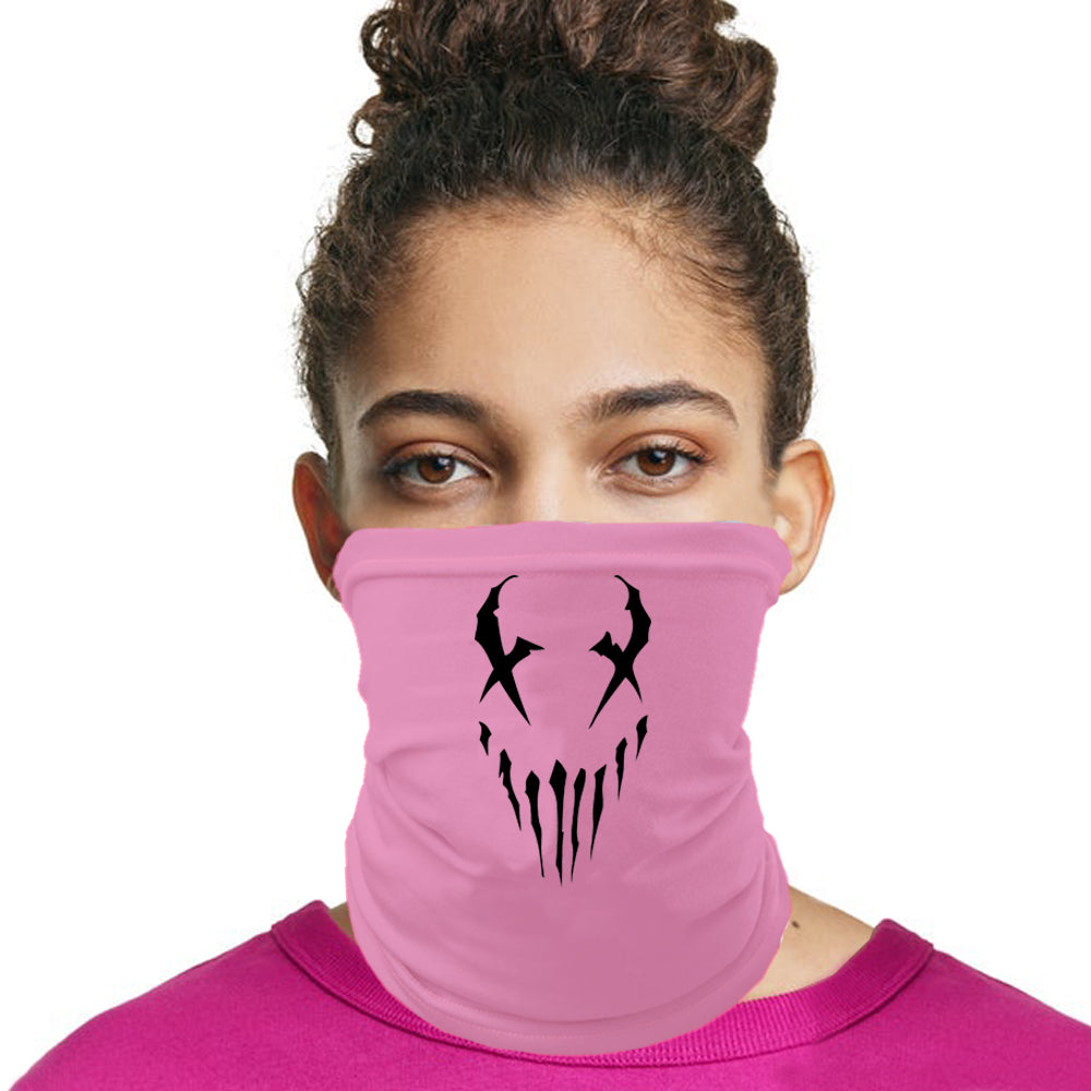 "Mushroomhead ""X Face"" neck gaiter in Pink"