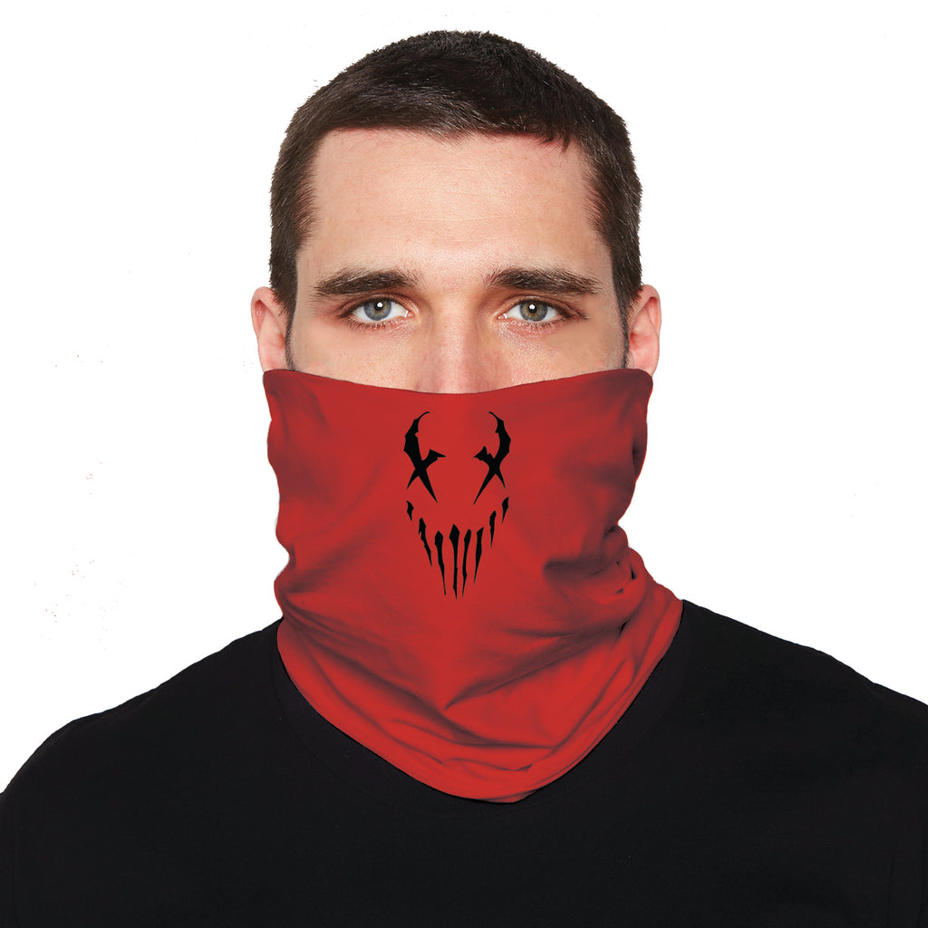 "Mushroomhead ""X Face"" neck gaiter in Red"