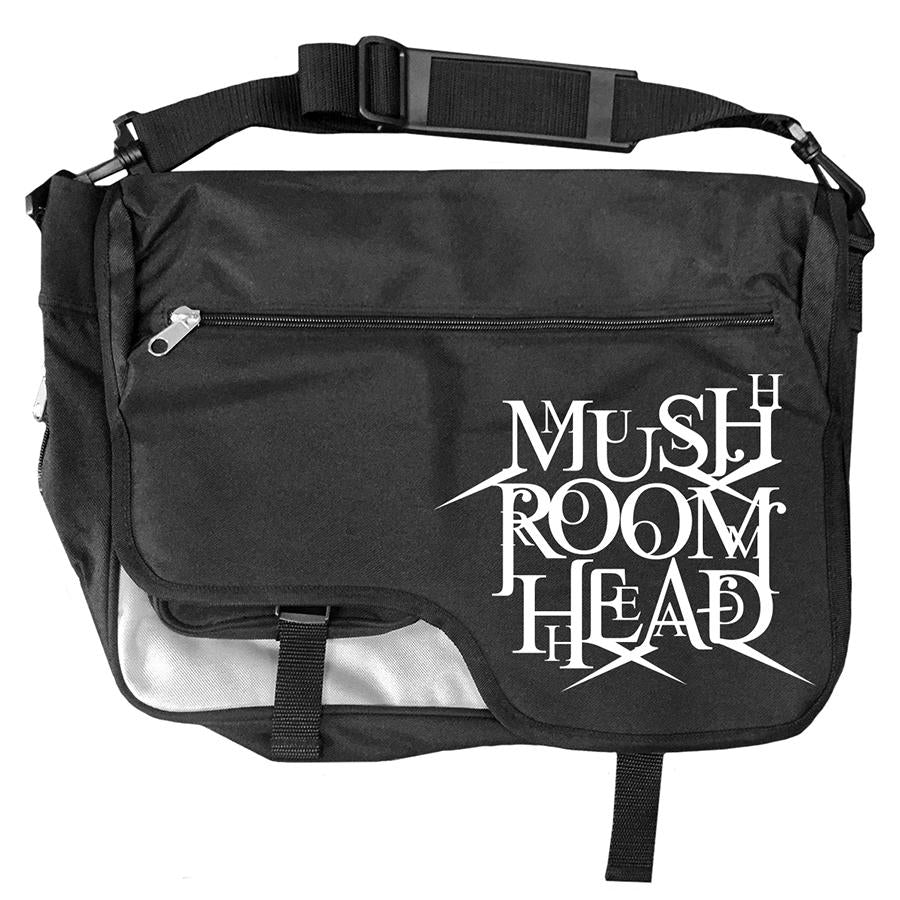 "Mushroomhead ""Stacked Logo"" Messenger Bag Black/White"