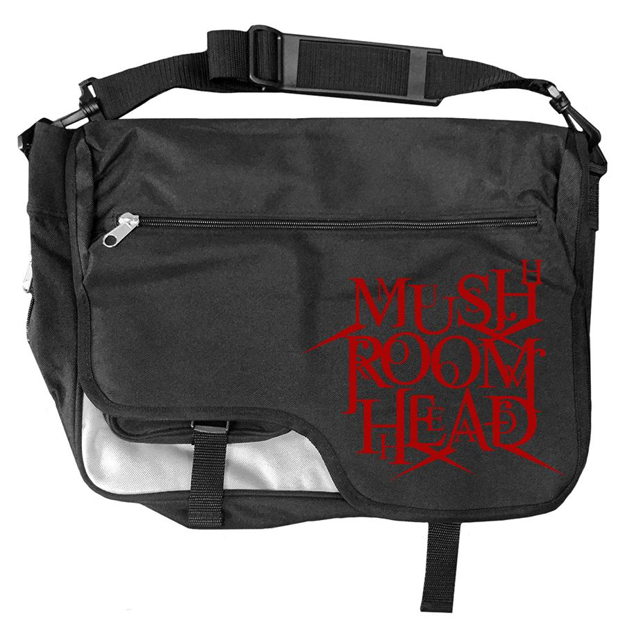 "Mushroomhead ""Stacked Logo"" Messenger Bag Black/Red"