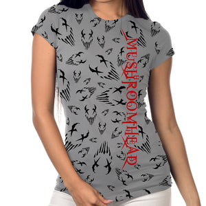 "Mushroomhead ""All Over Print"" Women's Grey T-Shirt"