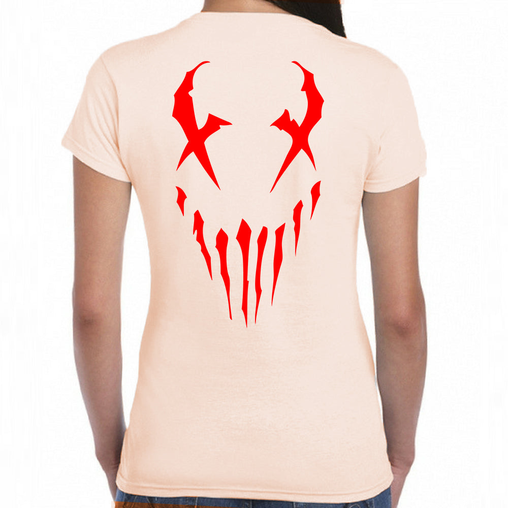 "Mushroomhead ""War Machine"" Women's Scoop Neck Beige Shirt"