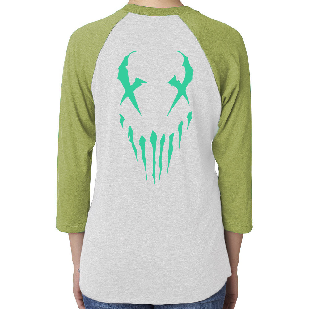 "Mushroomhead ""X-Face"" Women's 3/4 Sleeve Raglan"