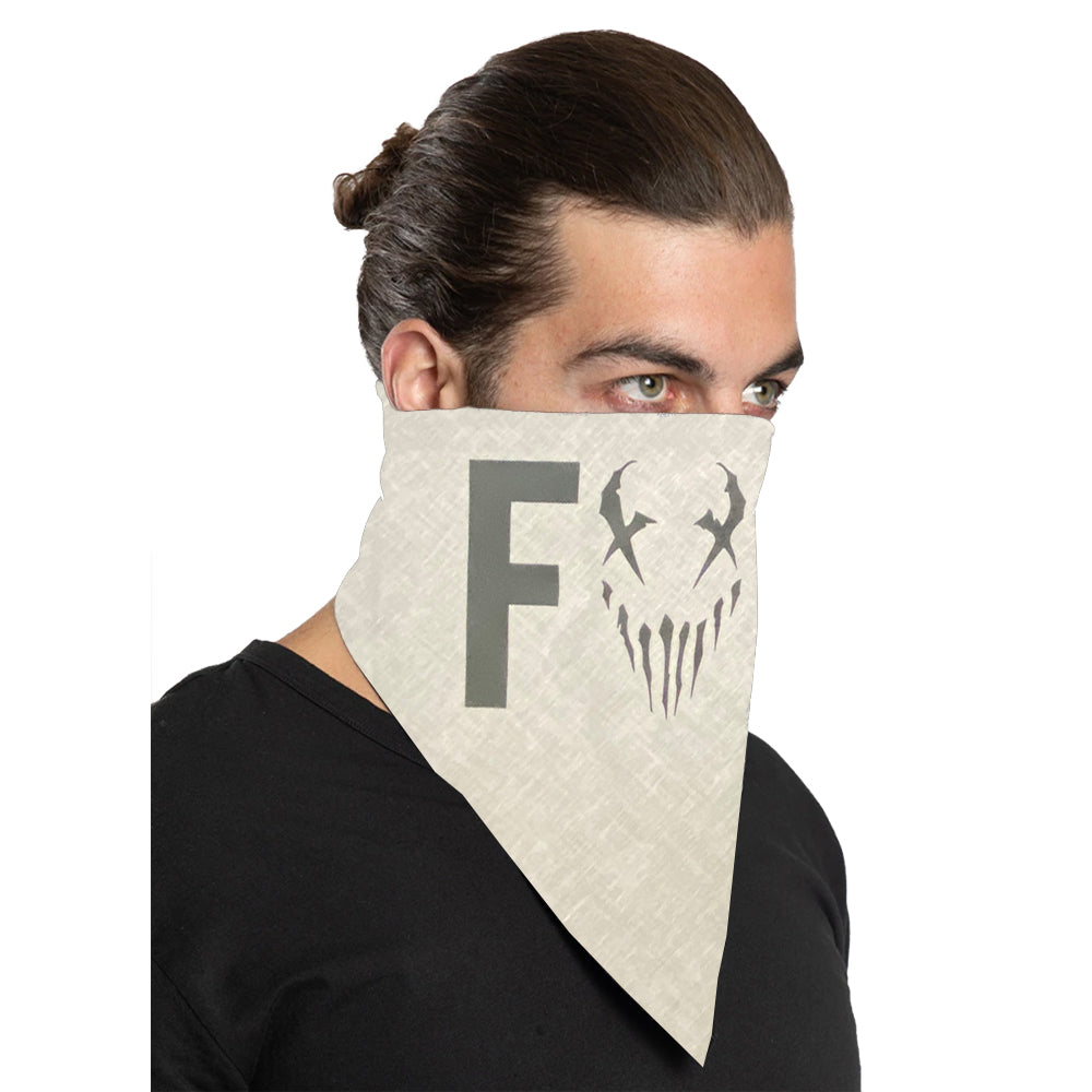 "Mushroomhead ""F*ck"" Bandana in White"