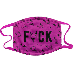 "Mushroomhead ""FUCK Wallpaper"" Reusable and Washable Anti-Germ and Pollution Mask Cover in Pink"