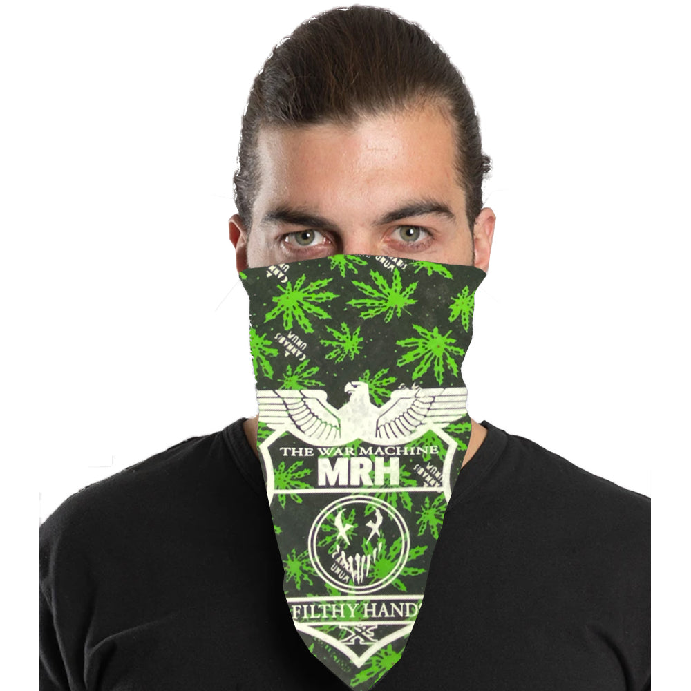 "Mushroomhead ""War Machine"" Bandana in Cannabis Print"