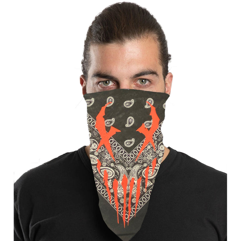 "Mushroomhead ""X-Face"" Bandana in Black Paisley"