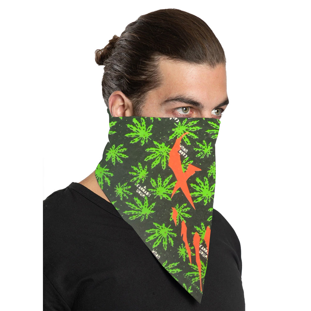 "Mushroomhead ""X-Face"" Bandana in Cannabis Print"