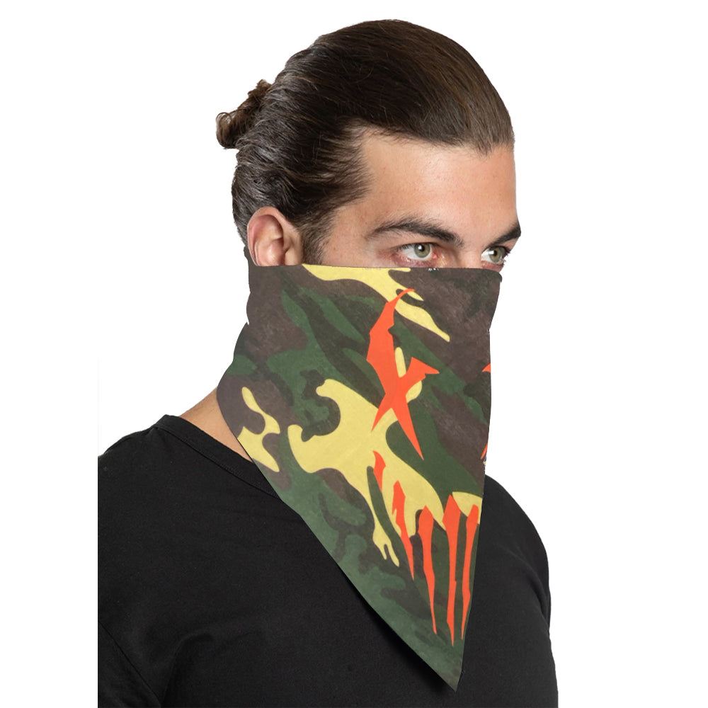 "Mushroomhead ""X-Face"" Bandana in Green Camo"