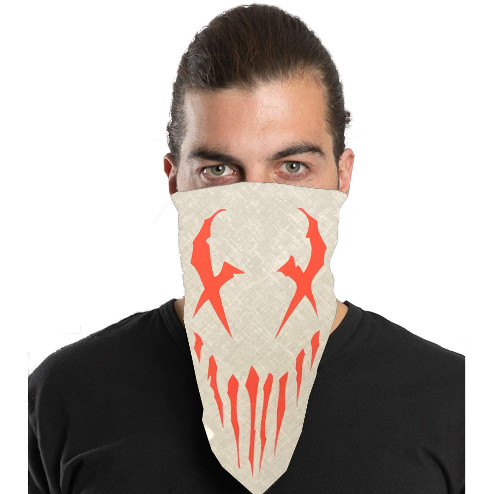 "Mushroomhead ""X-Face"" Bandana in White"