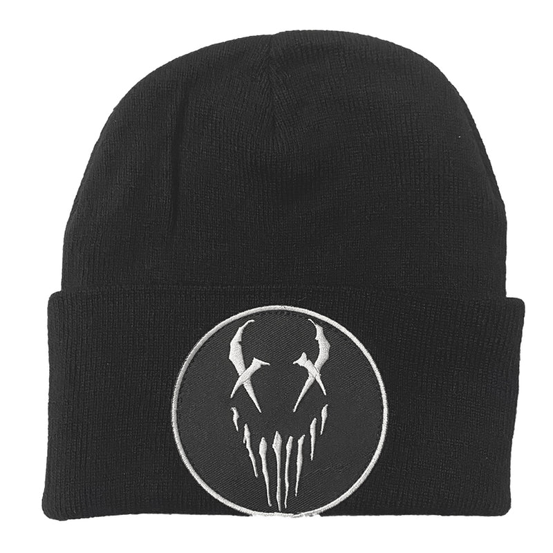 Mushroomhead X-Face White Logo Single Fold Beanie