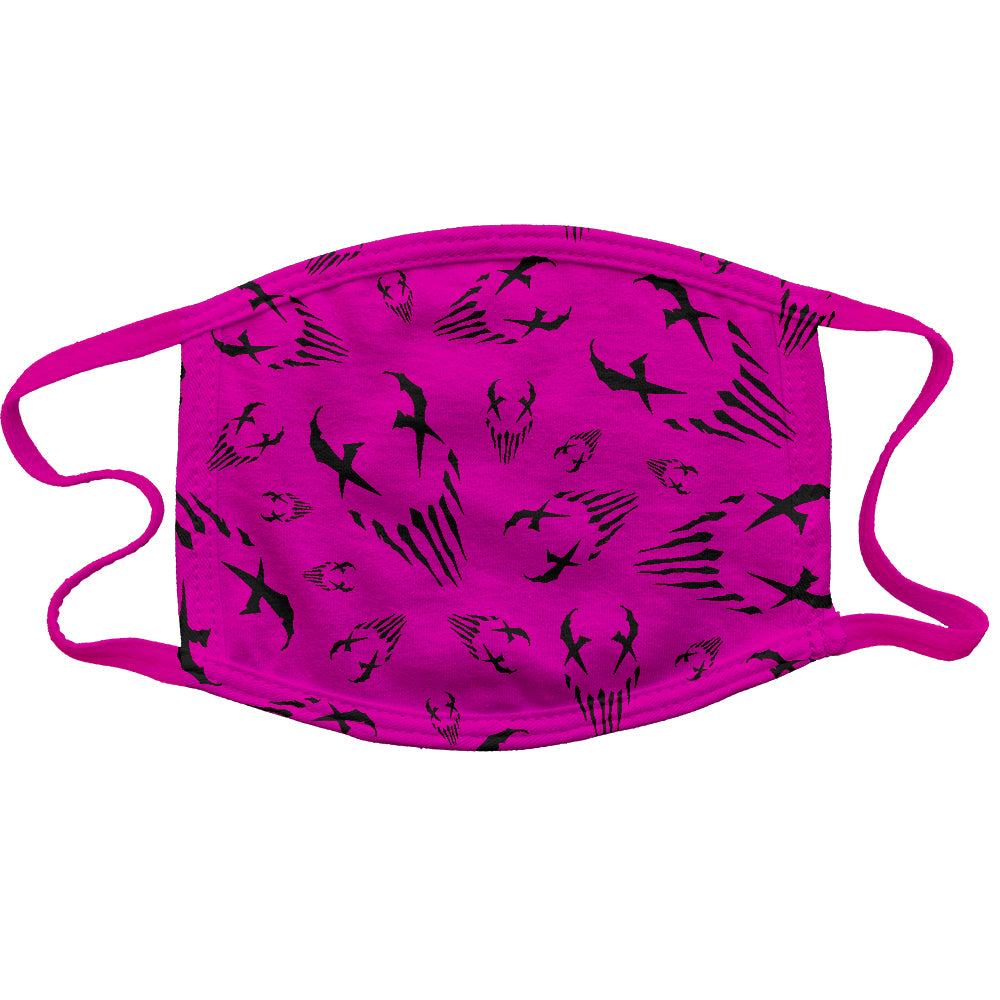 "Mushroomhead ""X Face Wallpaper"" Reusable and Washable Anti-Germ and Pollution Mask Cover in Pink"