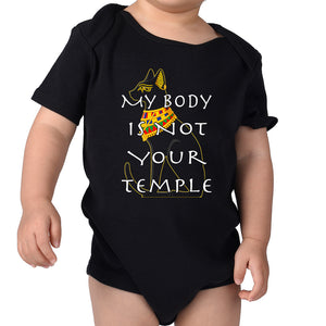 "Patricia Velasquez ""Egyptian Cat"" Infant Onesie"