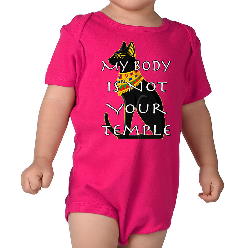 Patricia Velasquez Egyptian Cat Infant Onesie in Hot Pink