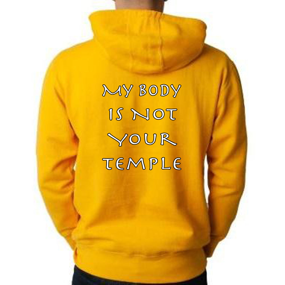 "Patricia Velasquez ""Egyptian Cat"" Pullover Hoodie in Gold"
