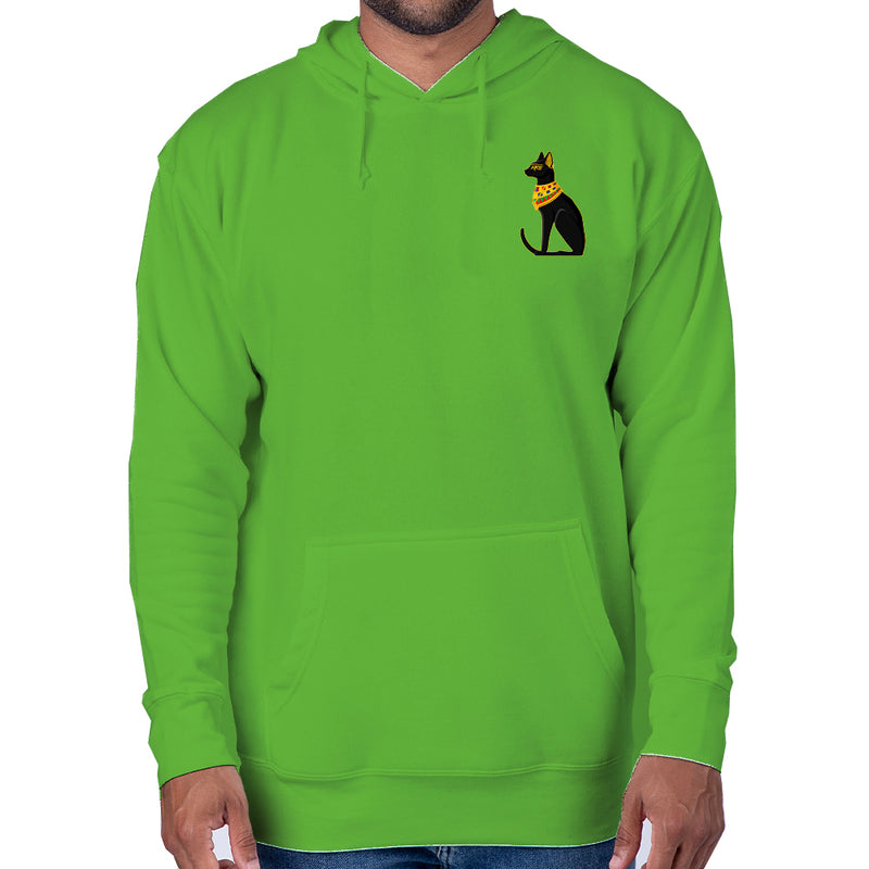 Patricia Velasquez Egyptian Cat Pullover Hoodie in Green